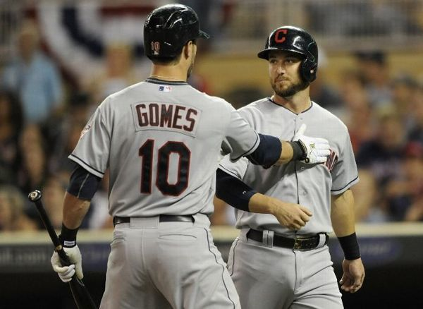 Gomes Homer Keeps Pace in Wild Race; Indians 6, Twins 5