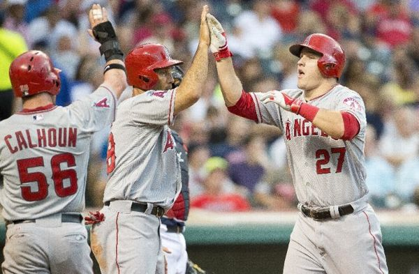 Trout Sends Tribe Fishing as Shoemaker Shines; Angels 9, Indians 3