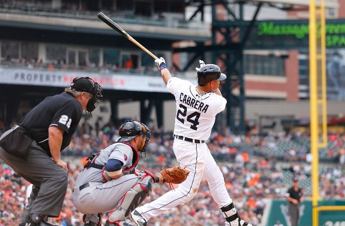 Cabrera Crushes Kluber to Take Weekend Series; Tigers 8, Indians 1