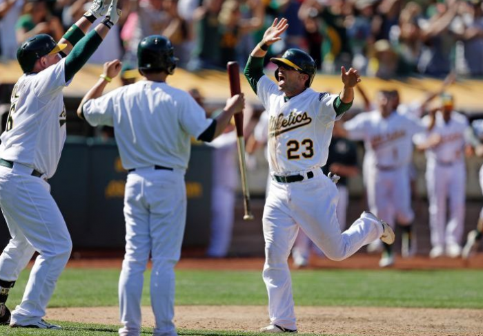 Oakland Walks Off an Extra Inning Winner; Athletics 2, Indians 1