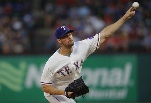 Hamels and Rangers Handcuff Punchless Tribe on Two-Hitter; Rangers 9, Indians 0