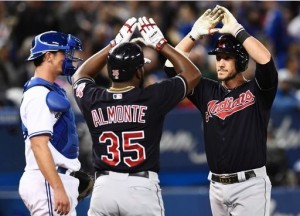 Bats Support Seven Scoreless from Carrasco in Win; Indians 6, Blue Jays 0