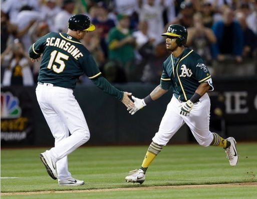 Davis' Walk-off Shot Wins it for Athletics; Athletics 5, Indians 3