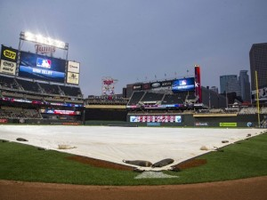 Tribe and Twins Rained Out at Target Field on Wednesday
