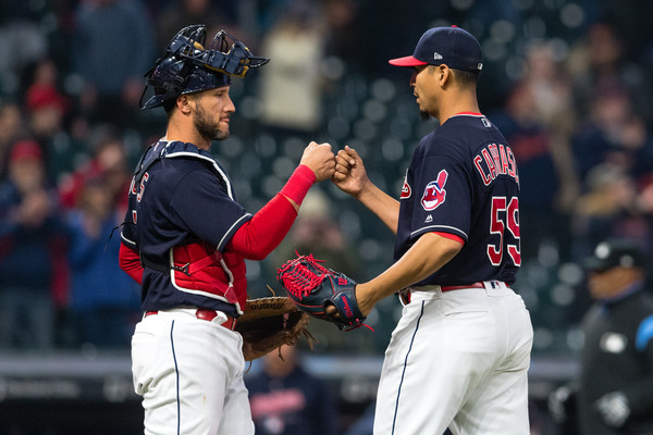 Tribe Bats Come Alive as Carrasco Throws Complete Game; Indians 5, Tigers 1