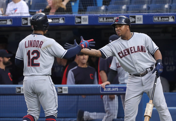 Big Day at the Top Trims Tribe's Magic Number to Seven; Indians 9, Blue Jays 4
