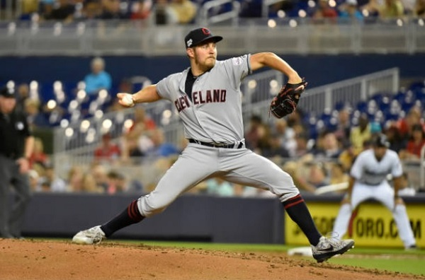 Bauer Bends, Does Not Break in Tribe Win; Indians 7, Marlins 4