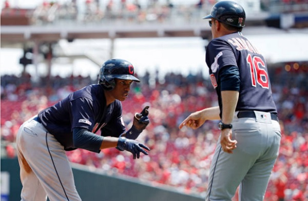 Tribe Routs Reds to Close Out First Half; Indians 11, Reds 1