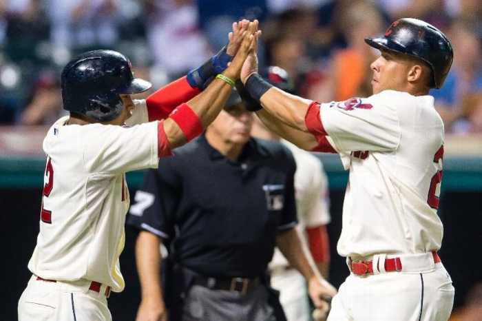 Gomes Blast Sends Tribe into Saturday Night Fever; Indians 8, Angels 3