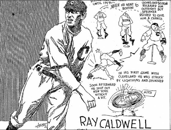 Caldwell Gave an Electrifying Performance on the Mound for the Tribe in 1919