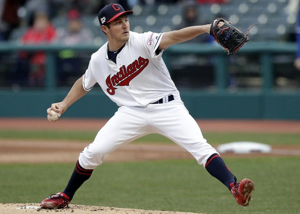 Bauer Unhittable for 7, Hand Loses No-Hit Bid Late in Victory; Indians 4, Jays 1