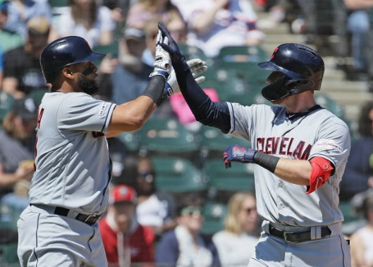 Offensive Eruption Backs Carrasco in Shutout in Chicago; Indians 9, White Sox 0
