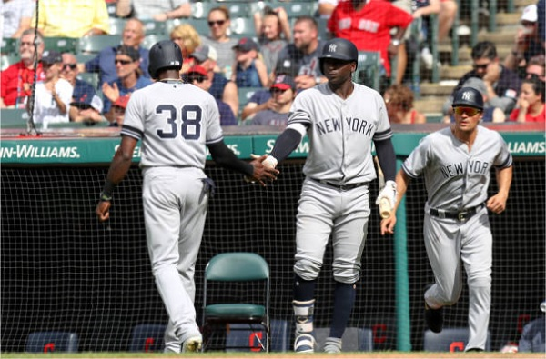 Indians Force Extras, Fall to Yankees in Ten; Yankees 7, Indians 6