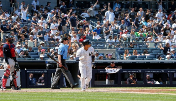 Yankees Use Four Solo Homers to Claim Victory; Yankees 6, Indians 5